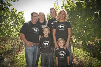 Etsell Family in Singletree Winery Vineyard